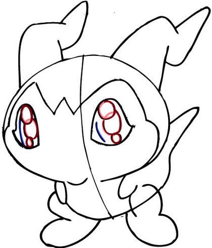 420x492 How To Draw Demiveemon From Digimon How To Draw Dat