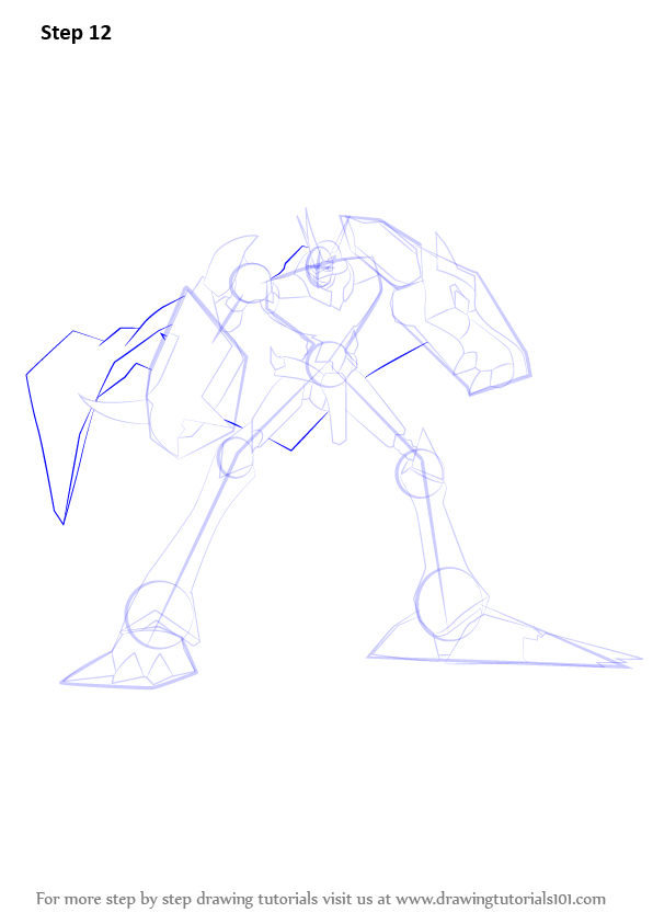 596x843 Learn How To Draw Omnimon From Digimon