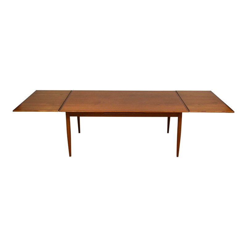 800x800 danish teak draw leaf dining table products dining