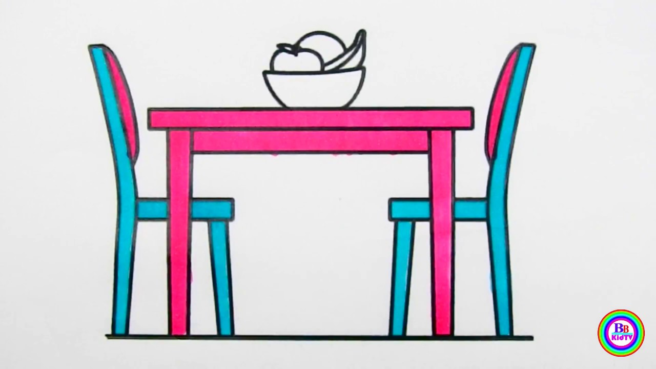 1280x720 bbkidtv how to draw dining table sets dining table coloring