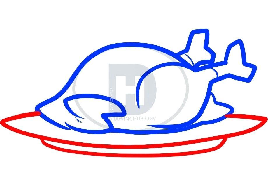 919x657 easy draw turkey draw a turkey easy to draw turkey dinner