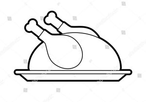 300x210 turkey dinner drawing how to draw a roast turkey dinner easy