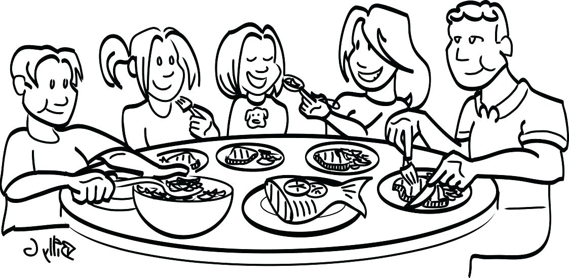 1123x548 dinner table clipart graphics for family dinner table graphics