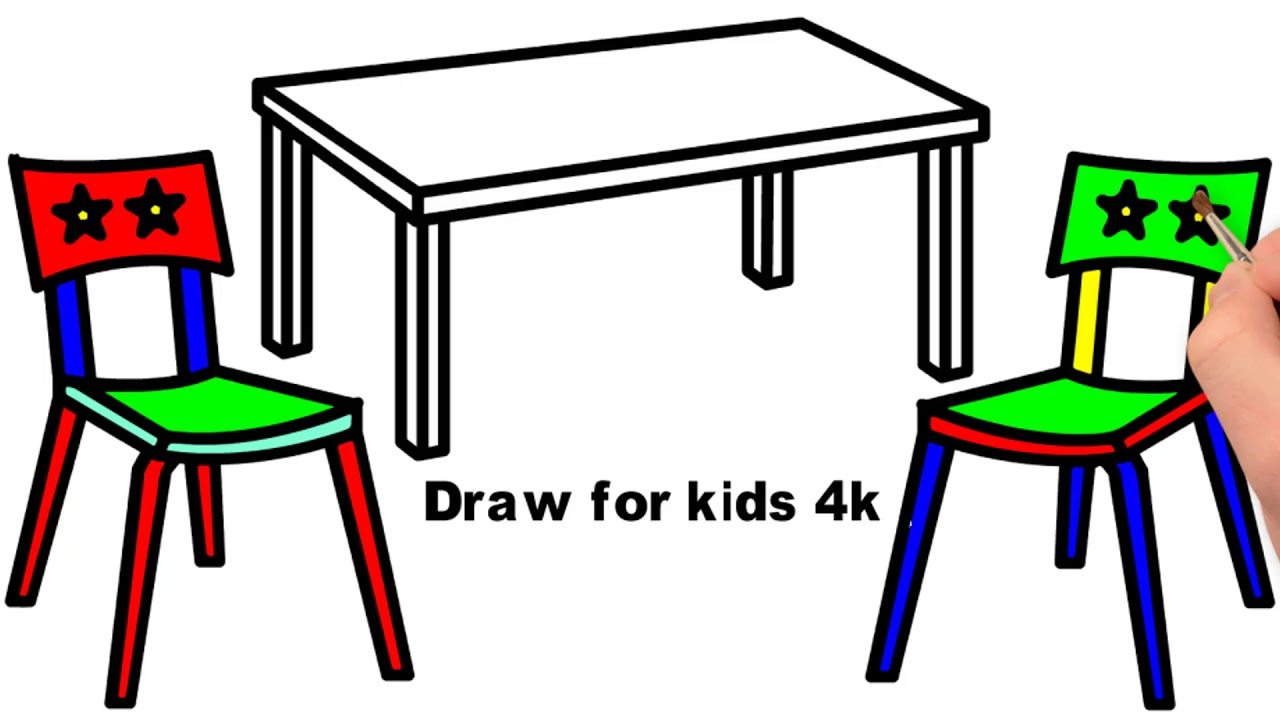 1280x720 draw dinner table and dining chair how to draw dining chair