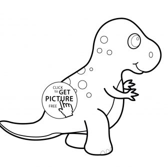 336x336 Dinosaur Cartoon Drawing Images Step