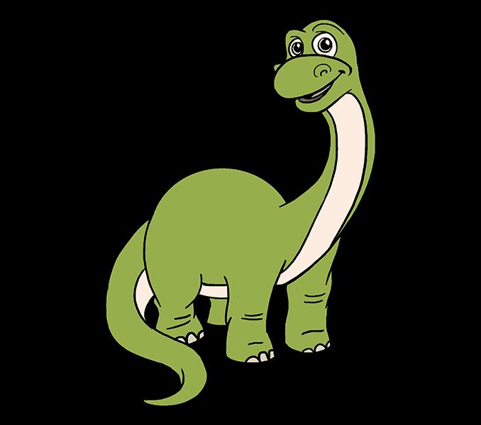678x600 How To Draw A Cartoon Dinosaur Easy Step