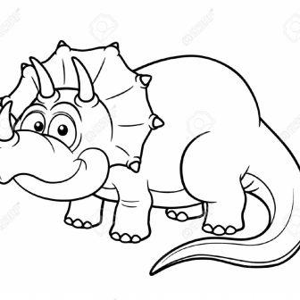 336x336 Stunning Dinosaur Cartoon Drawing Of Step