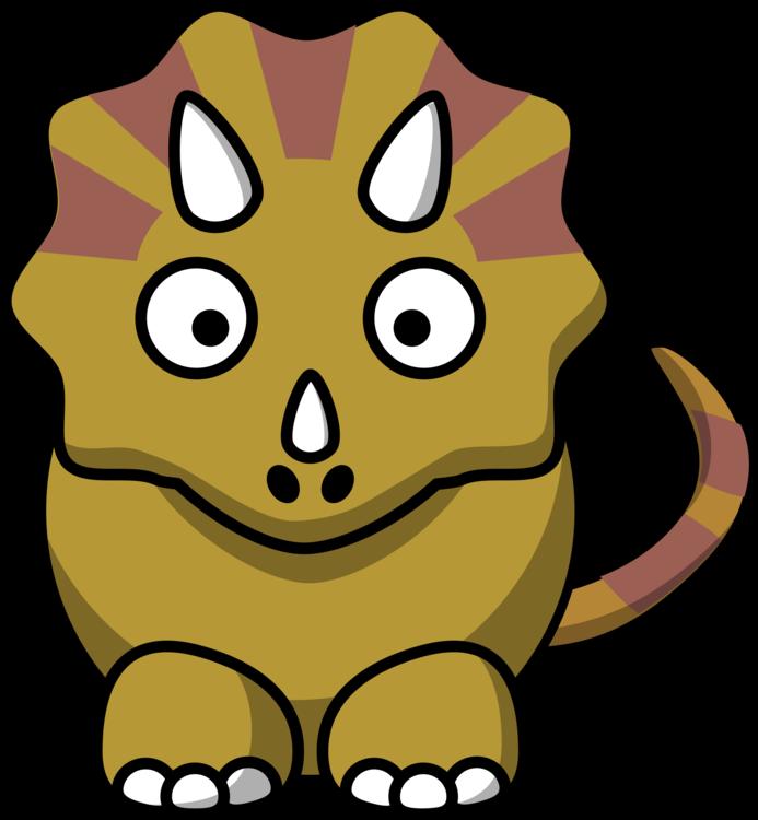 693x750 Triceratops Dinosaur World Cartoon Drawing Cc0