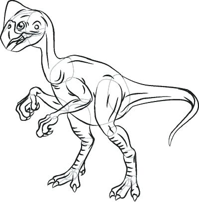 400x406 How To Draw A Dinosaur Cartoon