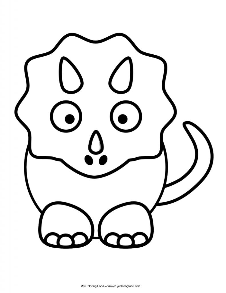 791x1024 Cute Triceratops Drawing Dinosaur Cartoon Drawing At Getdrawings