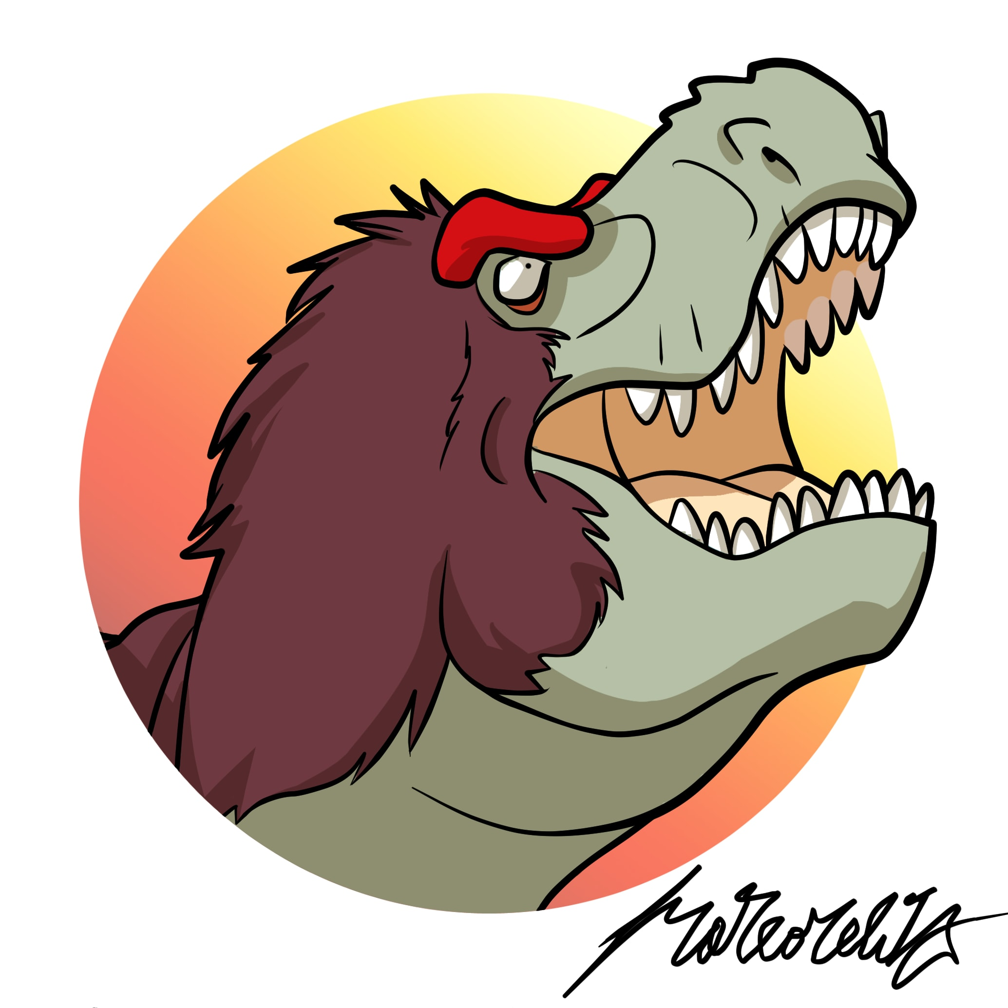2069x2069 Draw Your Favourite Dinosaur In Cartoon Style