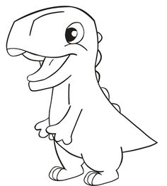 Dinosaur Drawing Easy