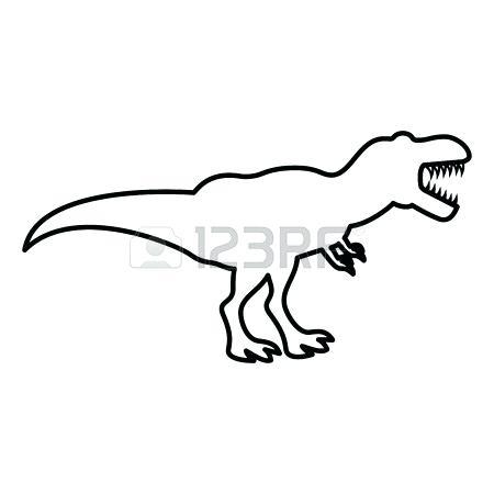 450x450 Drawing Of A T Rex Dinosaur Tyrannosaurus T Icon Black Color