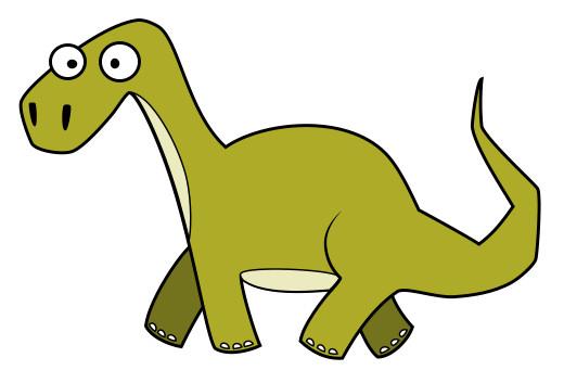 520x353 Drawing Cartoon Dinosaurs