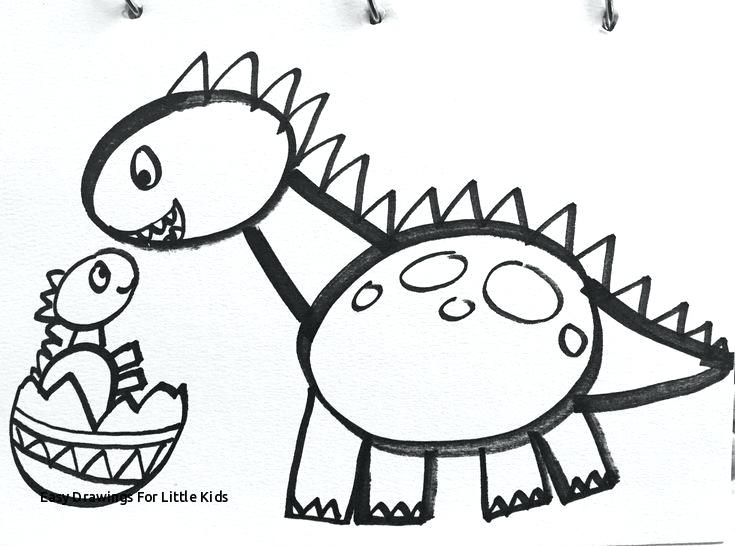 735x546 Simple Drawing Of A Dinosaur Dinosaur Nature Drawings Pictures
