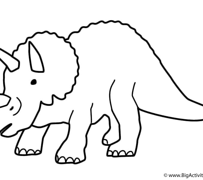 678x600 Triceratops Drawing Easy For Free Download