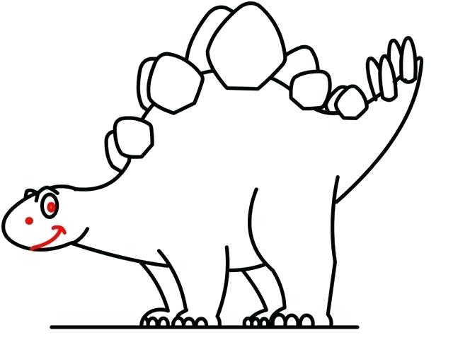 Dinosaur Drawing Outline