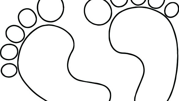 585x329 Dinosaur Footprint Template Printable Coloring