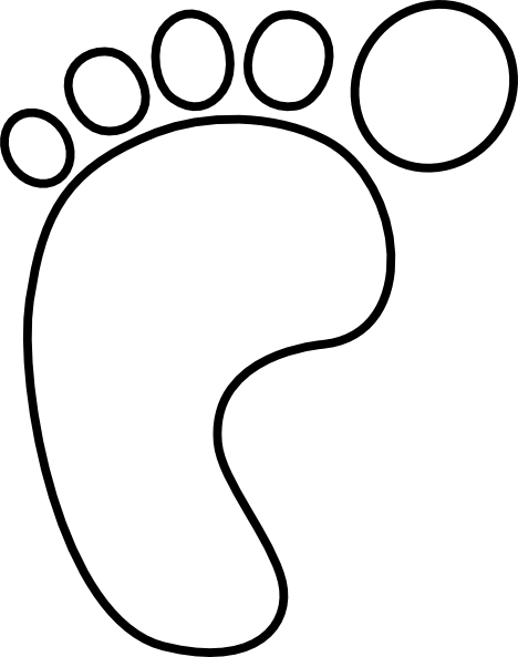 468x593 Footprint Outline Clipart