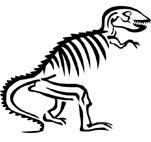 151x142 Dinosaur Fossil Drawing