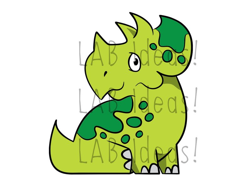 794x580 Baby Triceratops Clipart Dinosaur Png Line Etsy