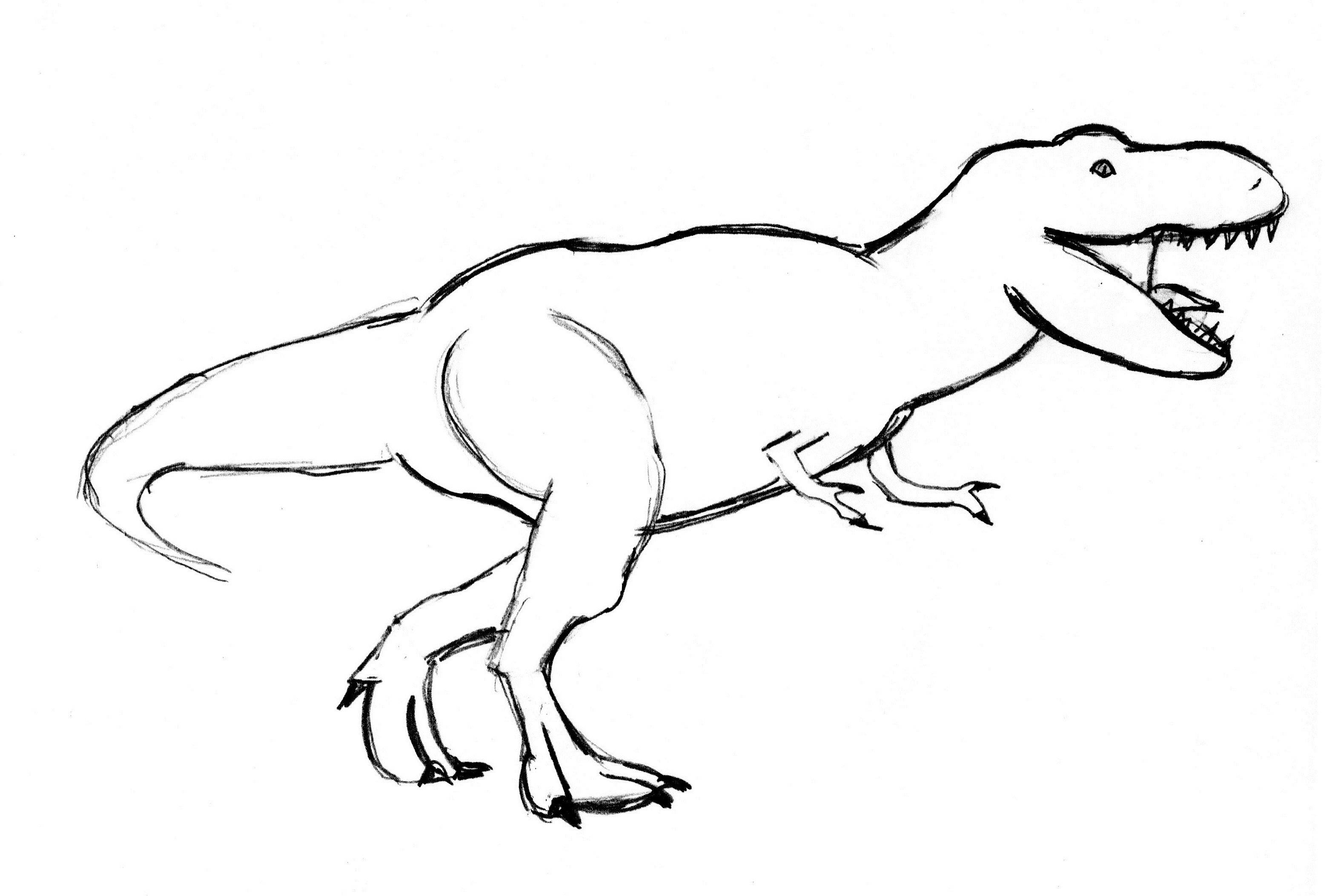 3115x2105 Dinosaur Drawings Save T Rex Drawing Step