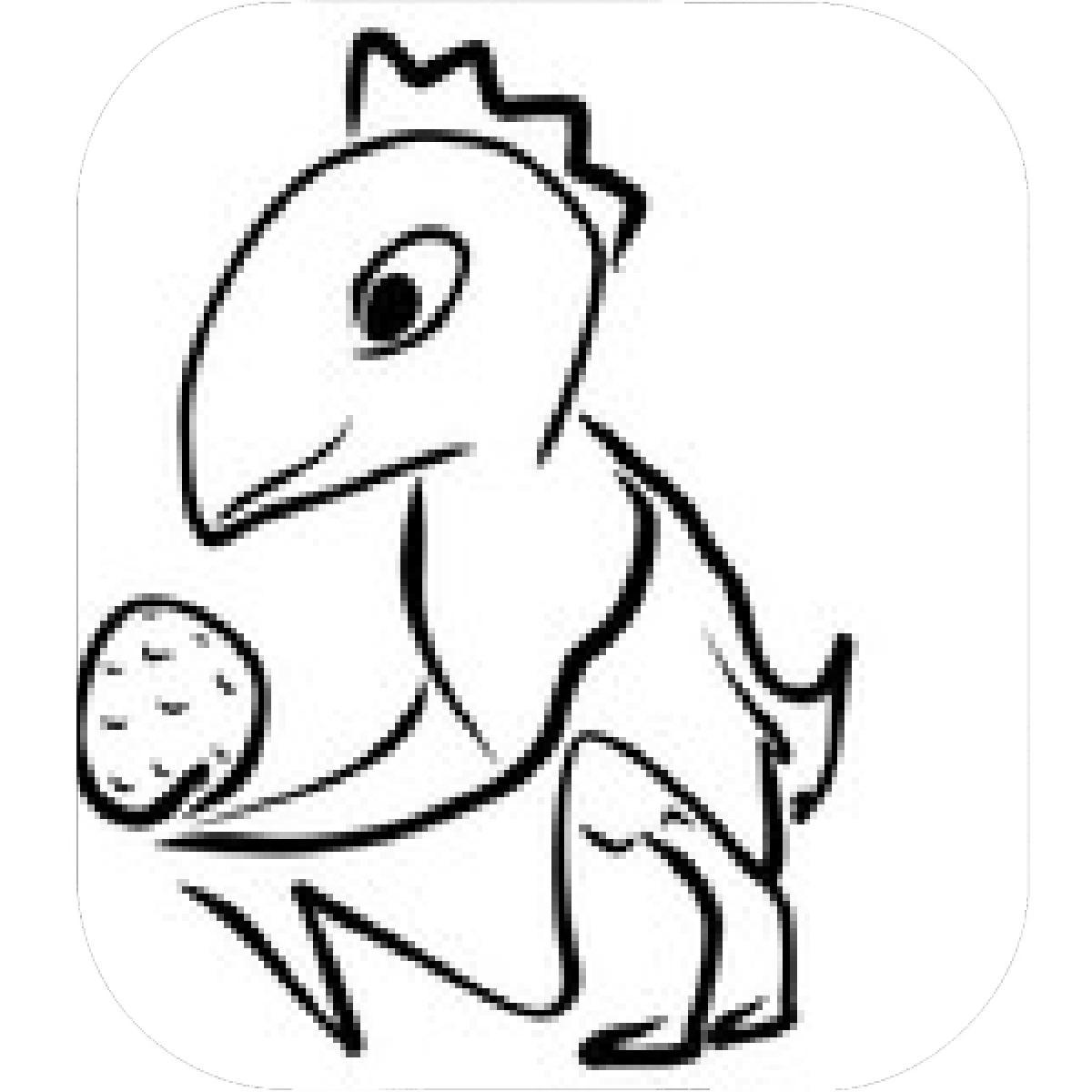 1200x1200 Dinosaur Eggs Coloring