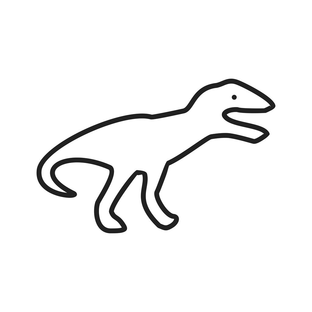 1024x1024 Dinosaur Line Icon