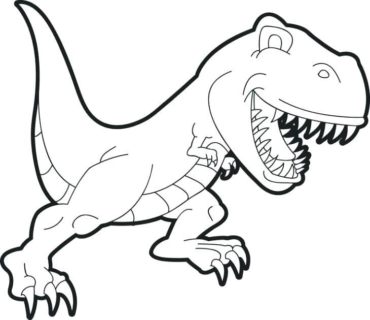 730x630 T Rex Cartoon Drawing