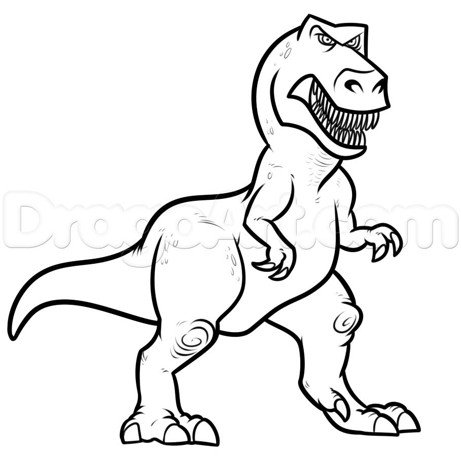 909x901 Dino Drawing Free Download