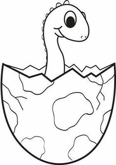 Dinosaur Outline Drawing