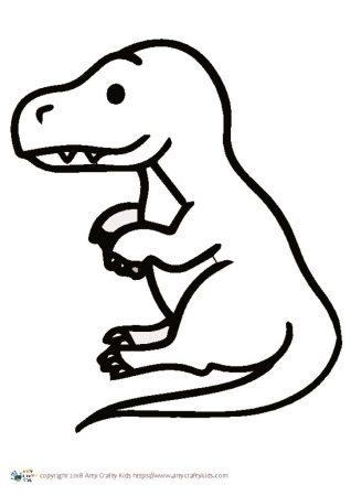 318x450 Dinosaur Outline Arty Crafty Kids