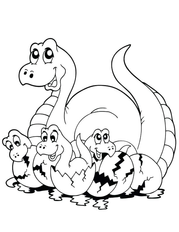 612x792 Dinosaur Outline Coloring Pages Pleasurable Drawing At Com Free