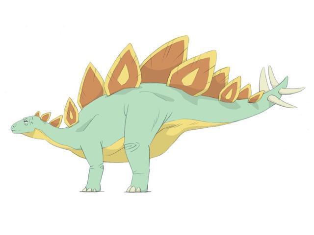 640x480 Stegosaurus Pencil Drawing With Digital Color Poster Print