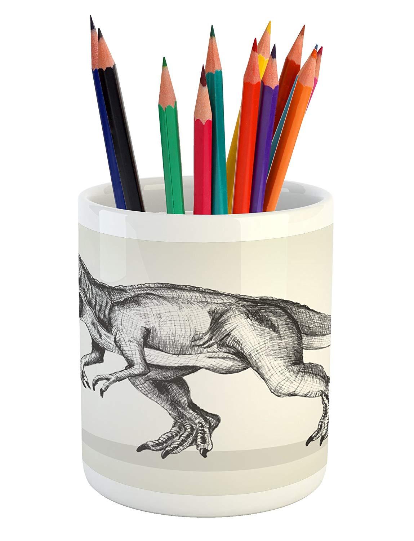 1149x1500 Lunarable Modern Pencil Pen Holder, Dinosaur Sketch