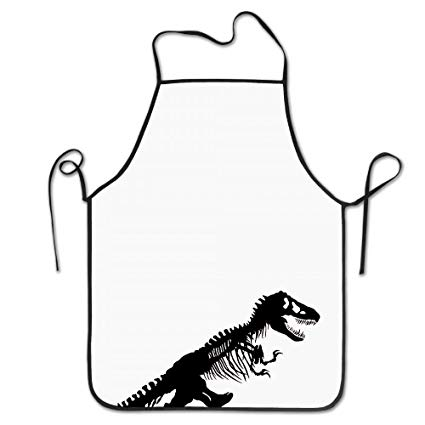 425x425 Luckyam Dinosaur Skeleton Cooking Aprons Funny Cool