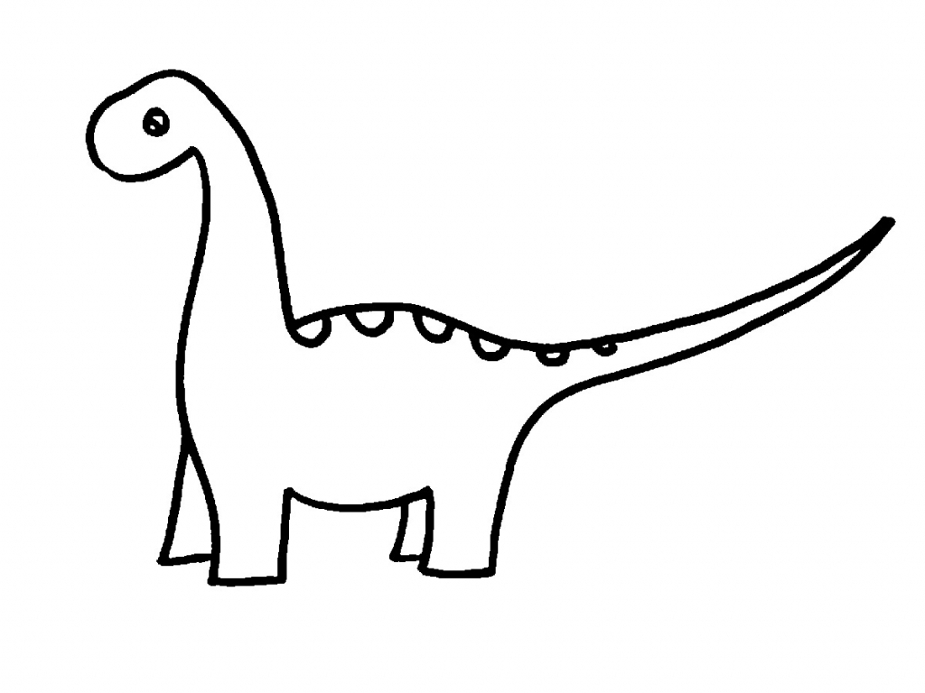 1024x768 Easy Dinosaur Skeleton Drawing