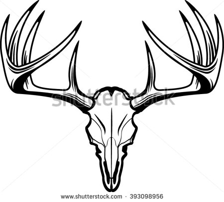 450x406 deer skull vector deer skull vector stock vector royalty free