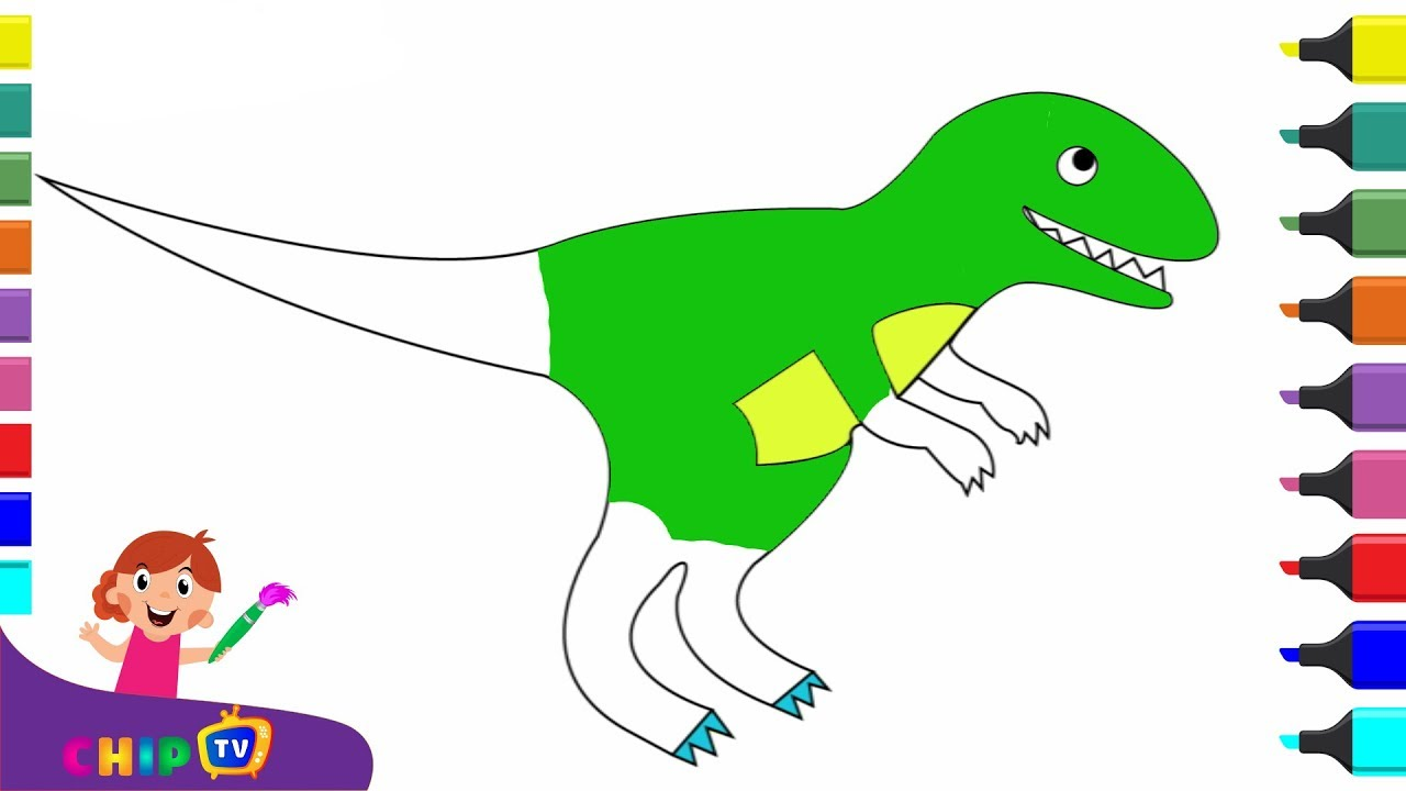 1280x720 Drawing Dinosaurs For Kids Color Pages For Kids Dinosaur King