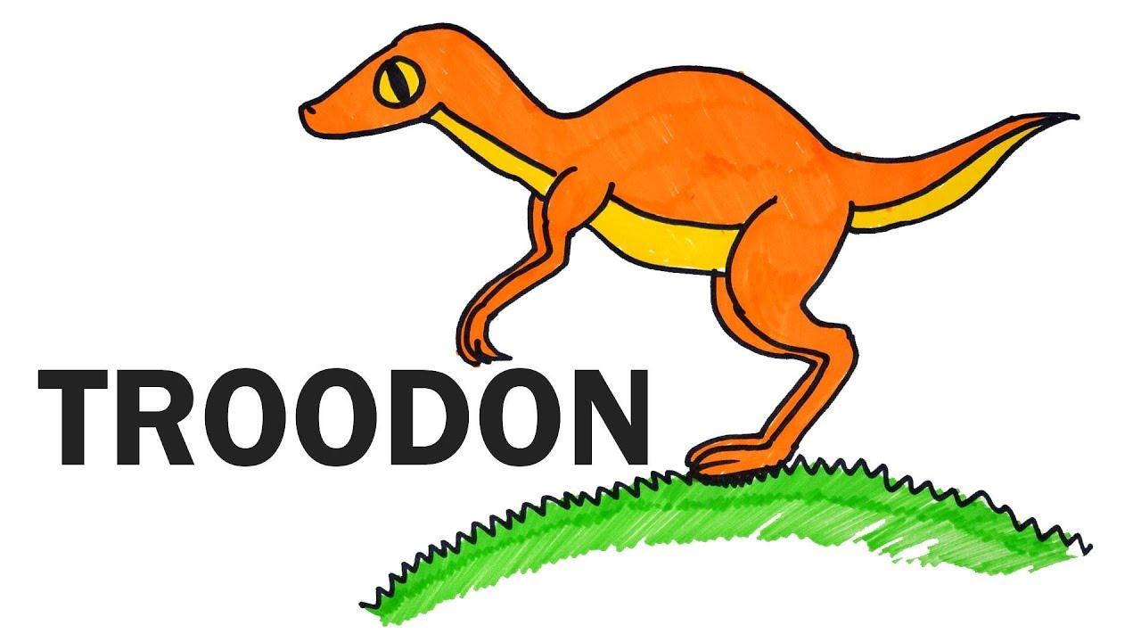 1280x720 How To Draw Troodon Dinosaur Step