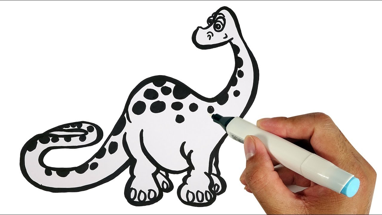1280x720 How To Draw Dinosaurs Coloring Pages For Kids Bun Bap Tv