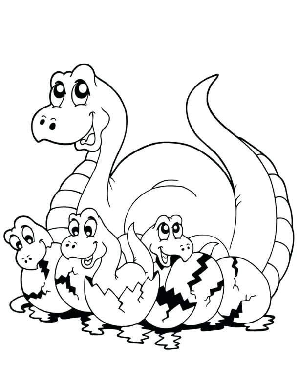 612x792 Free Printable Dinosaur Coloring Pages B Fun Sheets Baby