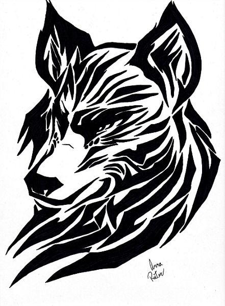 441x599 tribal wolf drawing tattoo ideas tribal wolf, tribal wolf