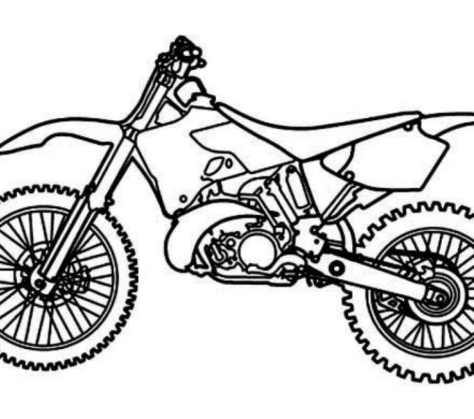 678x600 dirt bike coloring pages elegant lovely dirt bike drawing