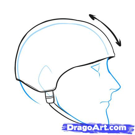 437x437 How To Draw A Helmet, Step