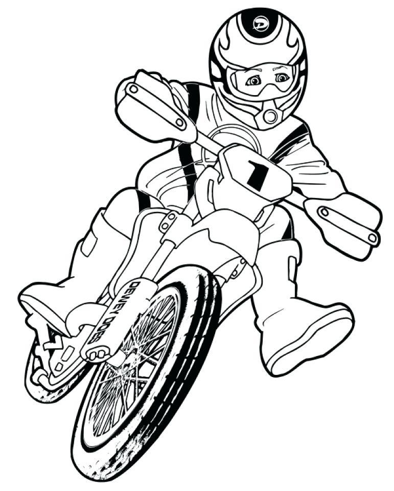 771x960 Dirt Bike Color Pages