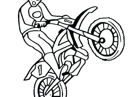 440x330 Dirt Bike Coloring Images