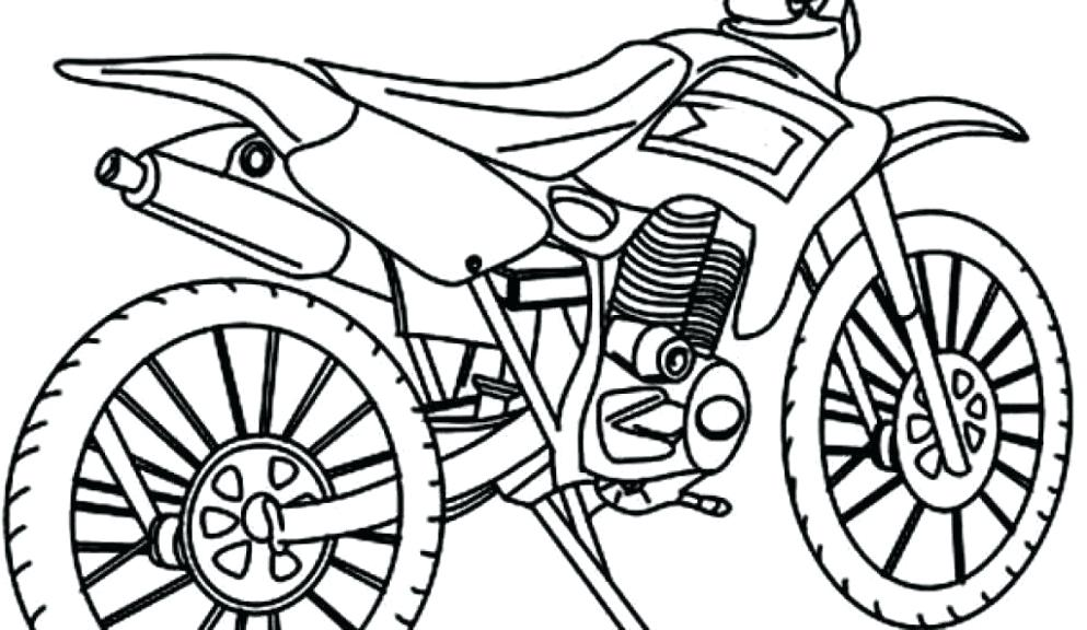 993x576 Dirtbike Coloring Pages