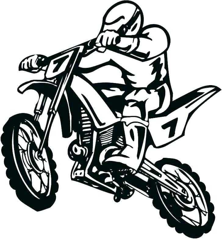 728x786 Free Dirt Bike Coloring Pictures