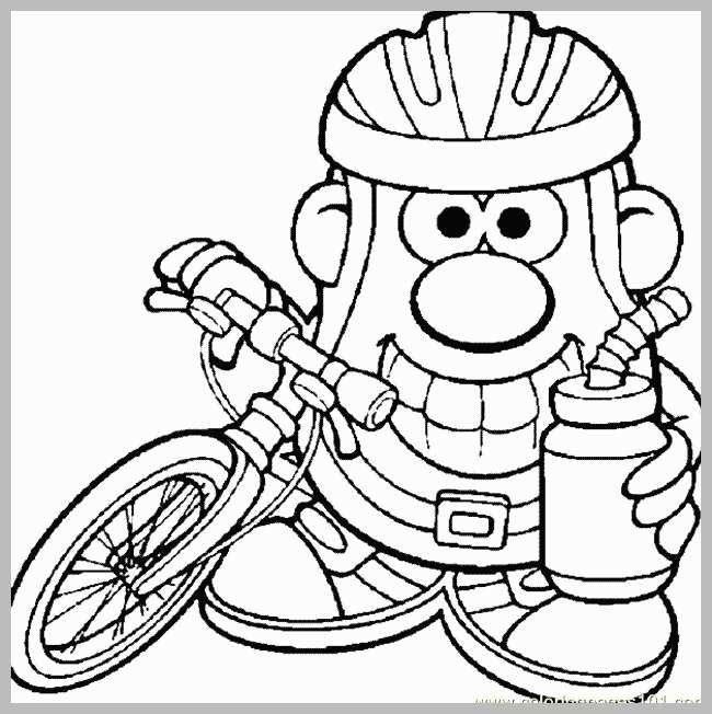 650x652 Bike Helmet Coloring